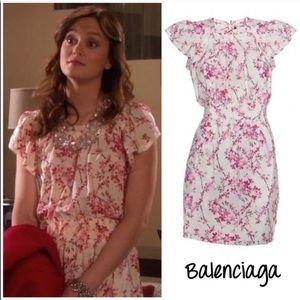 Balenciaga cherry blossom print dress FR 40 US 8
